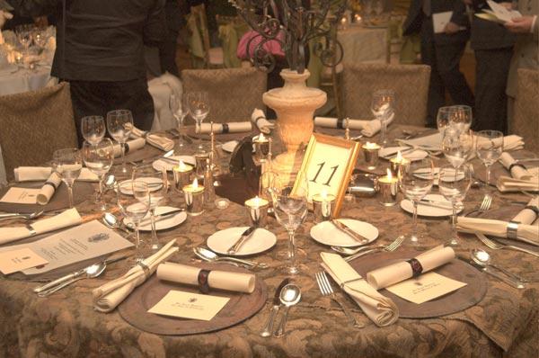 Windsor Castle Theme Wedding Table Decorations