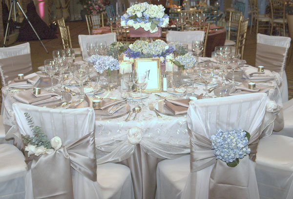 Elegant themed wedding table decor for How to dress a wedding table