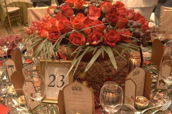 Persian Royal Wedding Theme Wedding Table Decorations
