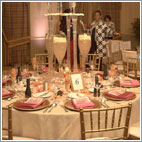 Champagne Wishes and Caviar Dreams Wedding Table Decor