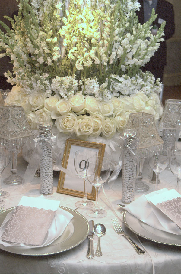 Urban Parisian and Silver Wedding Table Decorations for Wedding